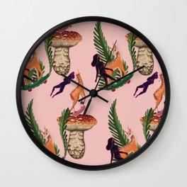 Deer to skate Wall Clock