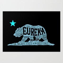 Eureka Bear — CA flag Art Print