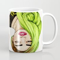lady Mugs featuring Lady Neon by Helen Green