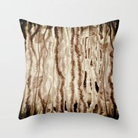 fringe Throw Pillows featuring fringe by Rae Snyder