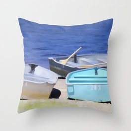Boat for rent 2 Throw Pillow