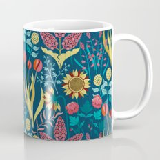 Florid Dreams Blue Mug