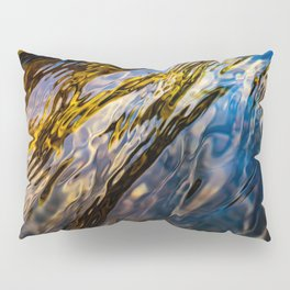 River Ripples in Copper Gold Blue and Brown Pillow Sham