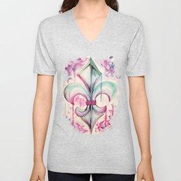 Fleur de Lis Unisex V-Neck
