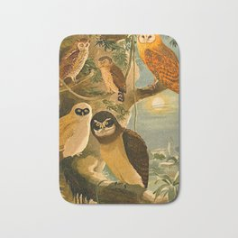 Album de aves amazonicas - Emil August Göldi - 1900 Amazon Animals Exotic Owls Bath Mat