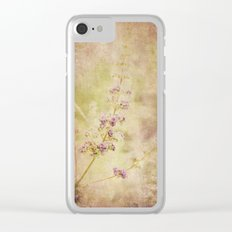 Vintage Lavender Clear iPhone Case
