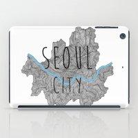seoul iPad Cases featuring Seoul city by Vania Pietronigro