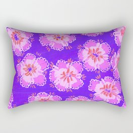Violet Annabelle Lace Rose Rectangular Pillow