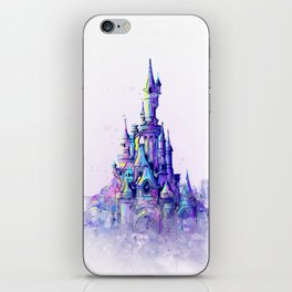 Disneyland Paris Watercolour Castle iPhone Skin