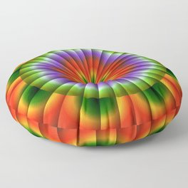 Pulsating Rainbow Wheel Floor Pillow