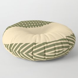 Geometric Spring Abstract - Pantone Warm color Floor Pillow