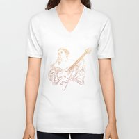 renaissance V-neck T-shirts featuring Flying V Renaissance by ochre7