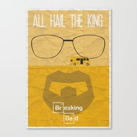 breaking bad Canvas Prints featuring BREAKING BAD by Vloh