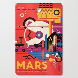 NASA Retro Space Travel Poster #9 Mars Cutting Board