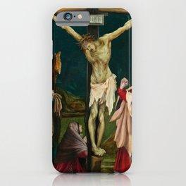 The Small Crucifixion by Matthias Grünewald iPhone Case
