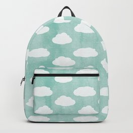 White clouds and blue sky Backpack