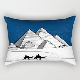 The pyramids of Giza Rectangular Pillow