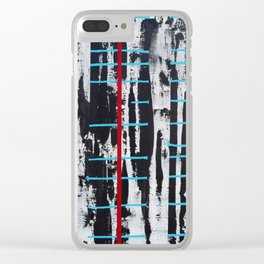 """""""Controlled Chaos"""" Clear iPhone Case"""