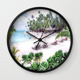 Bora Bora Tahiti Beach Scene 2  Wall Clock