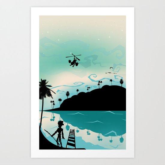 Island discovery Art Print