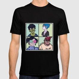 Murdoc, 2D, Noodle, Russel, band art T-shirt
