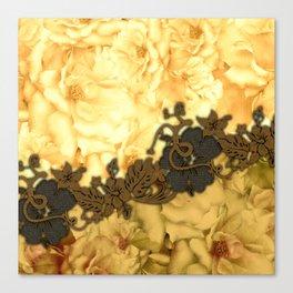 Wonderful flowers, yellow colors Canvas Print