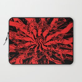 Pattern #2 J - Black Red Swirl Laptop Sleeve