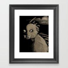 Chupacabra Boy  Framed Art Print