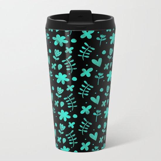 Colorful Lovely Pattern XVII Metal Travel Mug
