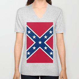 Confederacy Battle Flag Of Virginia Unisex V-Neck