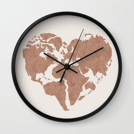 Heart Mapa - Modern Home Art Wall Clock