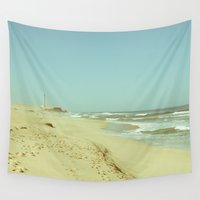 lighthouse Wall Tapestries featuring Lighthouse by Sandy Broenimann