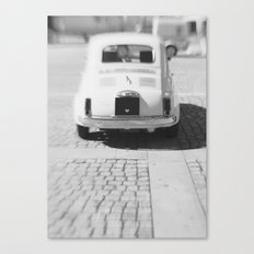 fiat 500 car - hers Canvas Print