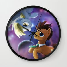 Whooves and Derpy Wall Clock