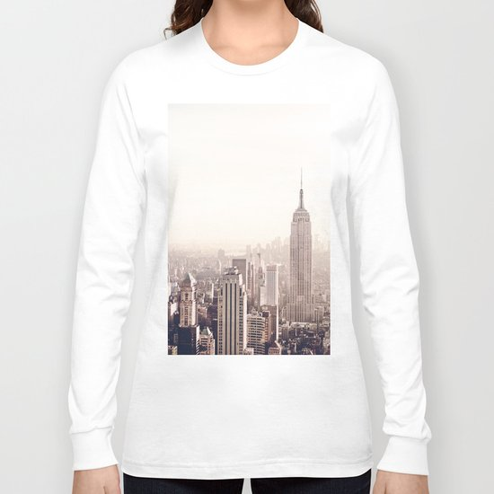 New York City Above the Cityscape Long Sleeve T-shirt