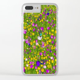 Tulip Obsessed Clear iPhone Case