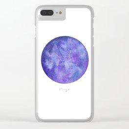 Virgo Constellation Galaxy Clear iPhone Case