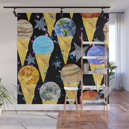 Univers with Planet of the solar system. Wall Mural