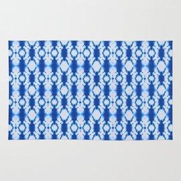rotary tie-dye pattern in cobalt Rug