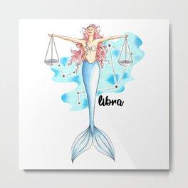 Libra Mermaid Metal Print