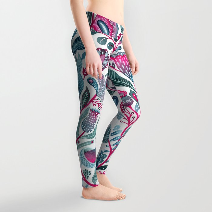 Endlessly growing - pink and turquoise Leggings