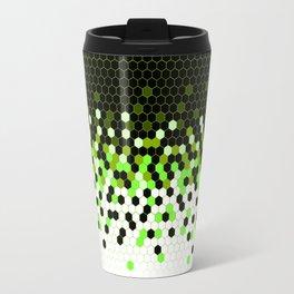 Flat Tech Camouflage Reverse Green Travel Mug