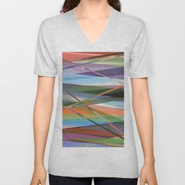 Abstract Composition 671 Unisex V-Neck