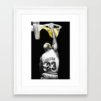 mike wrobel Framed Art Prints featuring MIKE by smARTwork Designs
