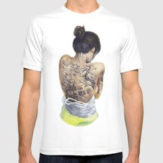 Winds of Chang'e MEDIUM Mens Fitted Tee White