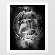 Boba Fett remix (negative) Art Print