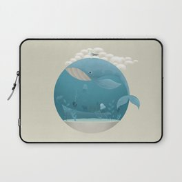 Seagull rest over whale Laptop Sleeve