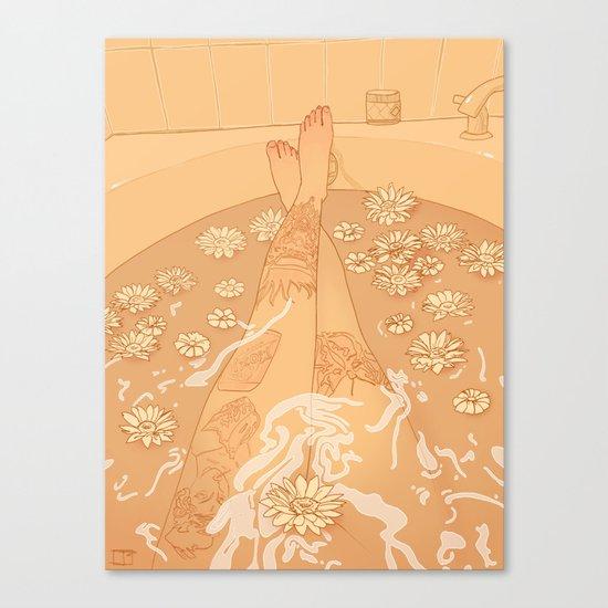 Flower Bath 10 (censored version) Canvas Print