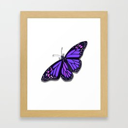 Purple Monarch Butterfly Framed Art Print
