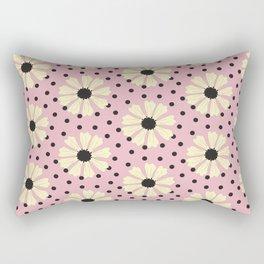 Yellow Daisy on Pink Rectangular Pillow